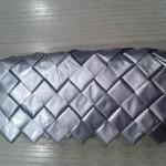 Flettede pung sølv