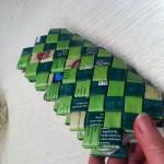 Flettede pung grøn